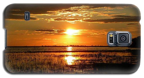 Manitoba Sunset Galaxy S5 Case by James Petersen