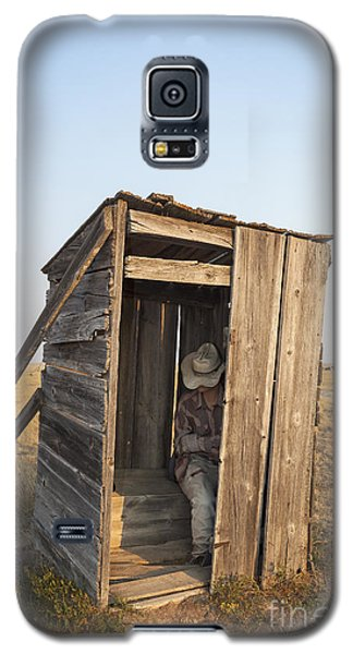 Mannequin Sitting In Old Wooden Outhouse Galaxy S5 Case