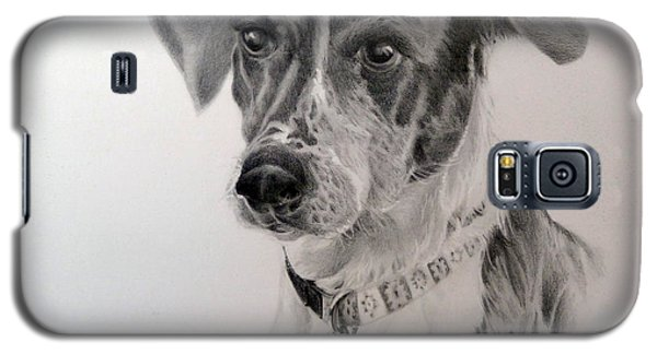 Galaxy S5 Case featuring the drawing Man's Best Friend by Lori Ippolito