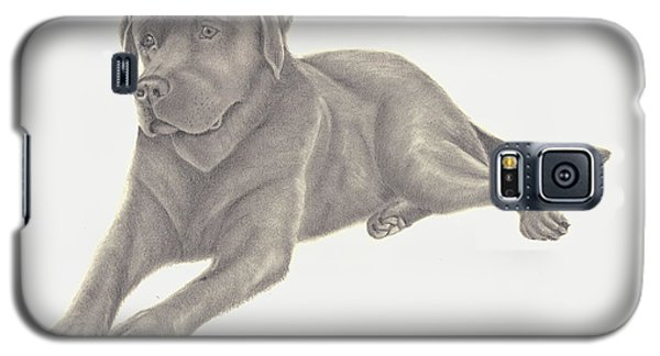 Galaxy S5 Case featuring the drawing Man's Best Friend by Patricia Hiltz