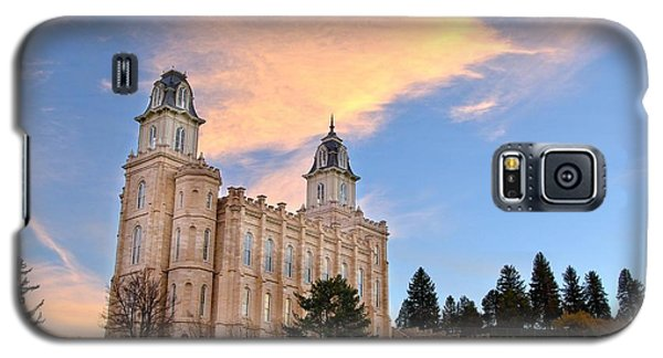 Manti Temple Morning Galaxy S5 Case by David Andersen