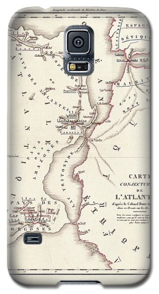 Map Of Atlantis Galaxy S5 Case by Library Of Congress, Geography And Map Division