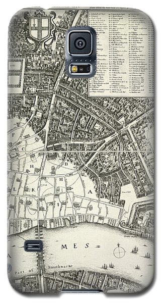 Tower Of London Galaxy S5 Case - Map Of London by British Library