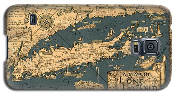 Map Of Long Island Galaxy S5 Case
