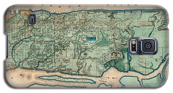 Map Of Manhattan Galaxy S5 Case