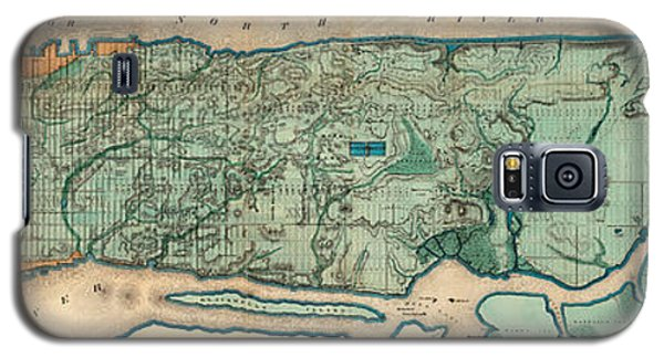 Map Of Manhattan Galaxy S5 Case