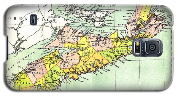 map of Nova Scotia - 1878 Galaxy S5 Case
