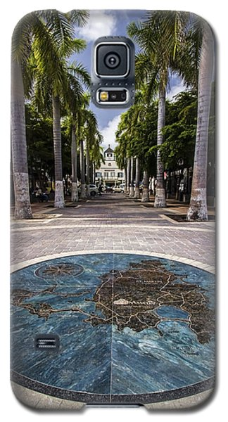 Map Of St. Maarten In The Boardwalk Galaxy S5 Case