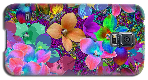 Map Of Your Soul And Flowered Galaxy S5 Case