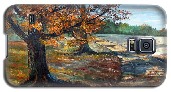 Galaxy S5 Case featuring the painting Maple Lane by Lee Piper