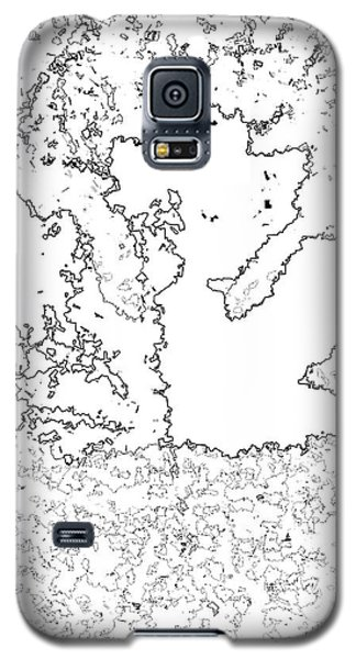 Maple Leaf Black Lines Galaxy S5 Case