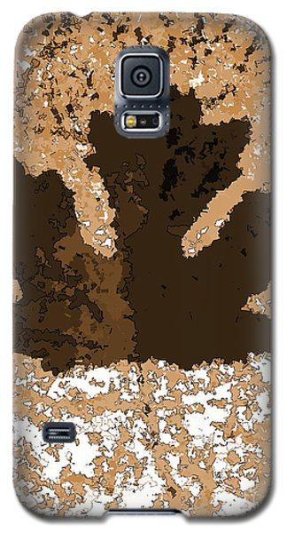 Maple Leaf Brown  Hues Galaxy S5 Case