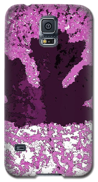 Maple Leaf Purple Pop Poster Hues  Galaxy S5 Case