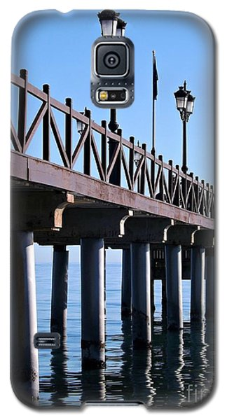 Galaxy S5 Case featuring the photograph Marbella Pier Spain by Clare Bevan