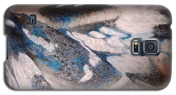Galaxy S5 Case featuring the painting Marble 7 by Mike Breau