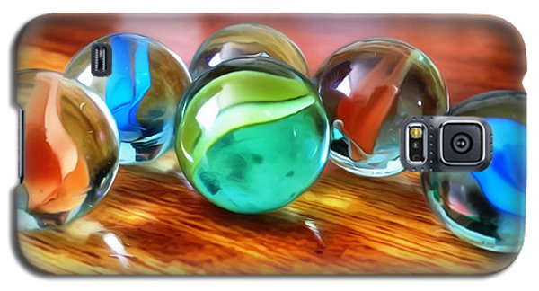 Galaxy S5 Case featuring the photograph Marble Ducks by Isabella F Abbie Shores FRSA