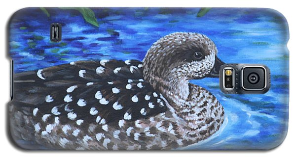 Marbled Teal Duck On The Water Galaxy S5 Case by Penny Birch-Williams