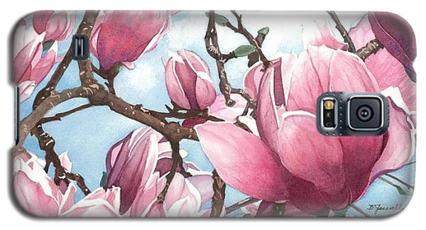 Galaxy S5 Case featuring the painting March Magnolia by Barbara Jewell