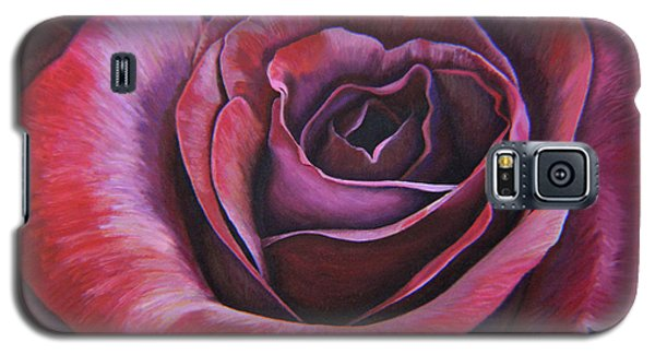 Galaxy S5 Case featuring the painting March Rose by Thu Nguyen