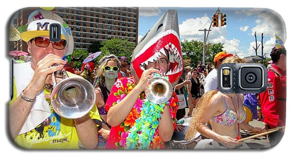 Galaxy S5 Case featuring the photograph Marching Band by Ed Weidman