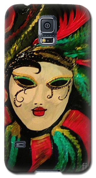 Galaxy S5 Case featuring the painting Mardi Gras Memory by Brigitte Emme