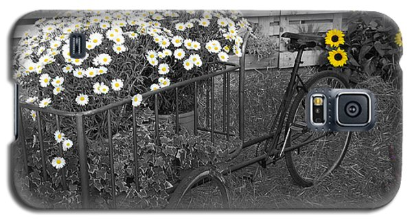Marguerites And Bicycle Galaxy S5 Case by Gina Dsgn