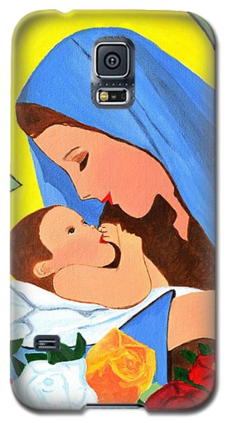 Galaxy S5 Case featuring the painting Maria And Baby Jesus by Magdalena Frohnsdorff