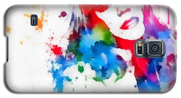 Mariah Carey Watercolor Paint Splatter Galaxy S5 Case