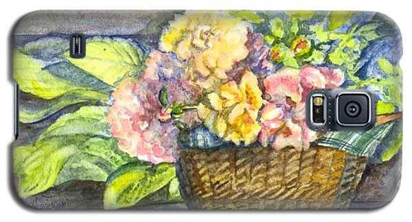 Marias Basket Of Peonies Galaxy S5 Case