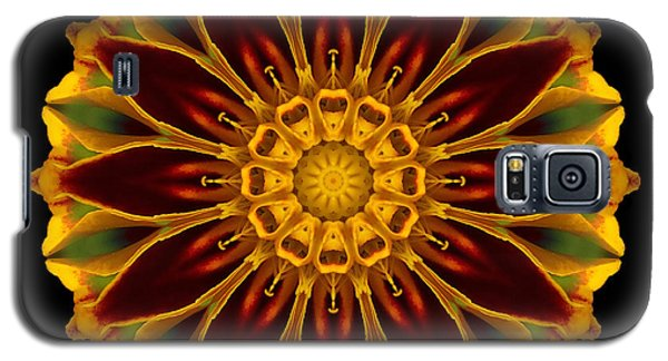 Galaxy S5 Case featuring the photograph Marigold Flower Mandala by David J Bookbinder