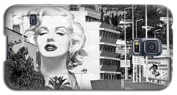 Galaxy S5 Case featuring the photograph Marilyn In Cannes by Jennie Breeze
