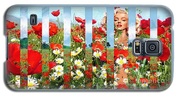 Marilyn In Poppies 1 Galaxy S5 Case