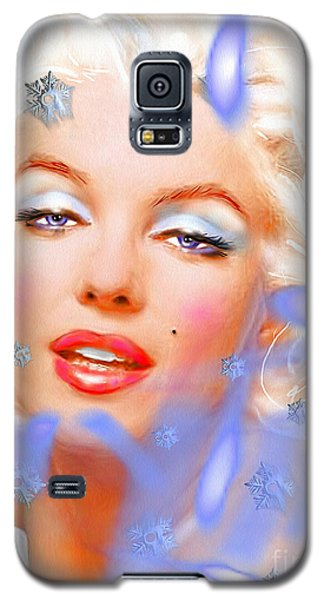Galaxy S5 Case featuring the painting Marilyn M. by Daniel Janda