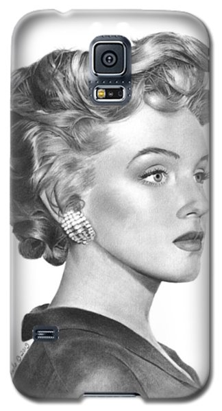 Galaxy S5 Case featuring the drawing Marilyn Monroe - 014 by Abbey Noelle