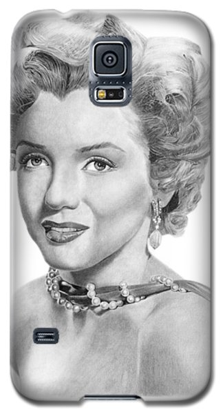 Galaxy S5 Case featuring the drawing Marilyn Monroe - 016 by Abbey Noelle