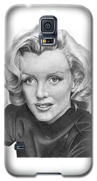 Galaxy S5 Case featuring the drawing Marilyn Monroe - 025 by Abbey Noelle