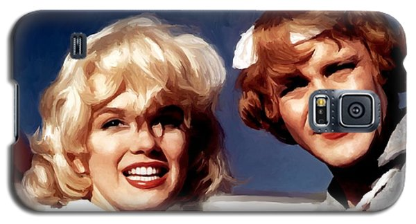 Marilyn Monroe And Jack Lemon Portrait Galaxy S5 Case