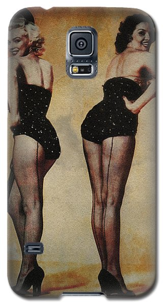 Galaxy S5 Case featuring the photograph Marilyn Monroe And Jane Russell by Ericamaxine Price