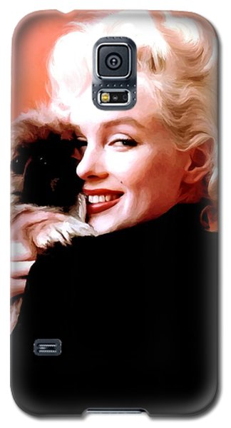 Marilyn Monroe And Pekingese Portrait Galaxy S5 Case