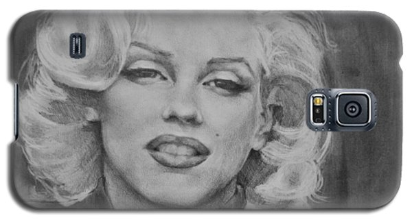 Galaxy S5 Case featuring the painting Marilyn Monroe by Jani Freimann