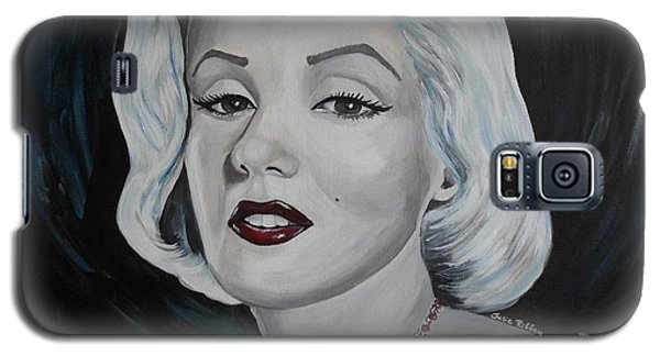 Galaxy S5 Case featuring the painting Marilyn Monroe by Julie Brugh Riffey