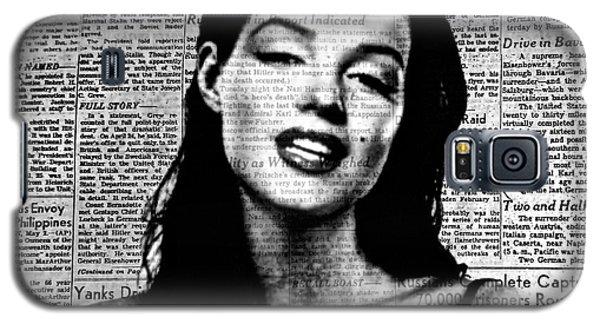 Marilyn Monroe On Vintage Newspaper Galaxy S5 Case