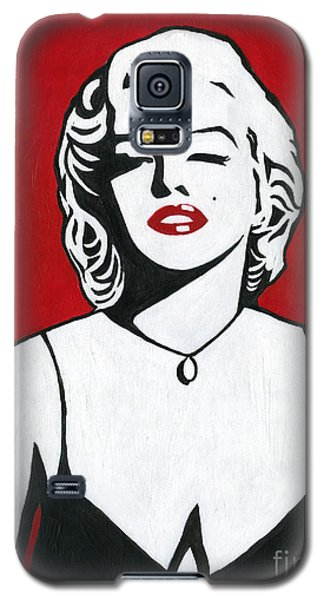 Galaxy S5 Case featuring the painting Marilyn Monroe by Roz Abellera Art