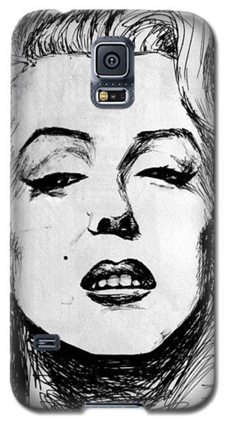 Galaxy S5 Case featuring the painting Marilyn Monroe by Salman Ravish