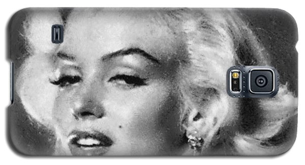 Beautiful Marilyn Monroe Unique Actress Galaxy S5 Case by Georgi Dimitrov