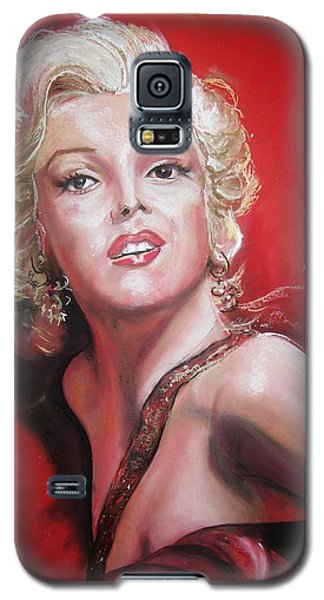 Galaxy S5 Case featuring the pastel Marilyn by Peter Suhocke