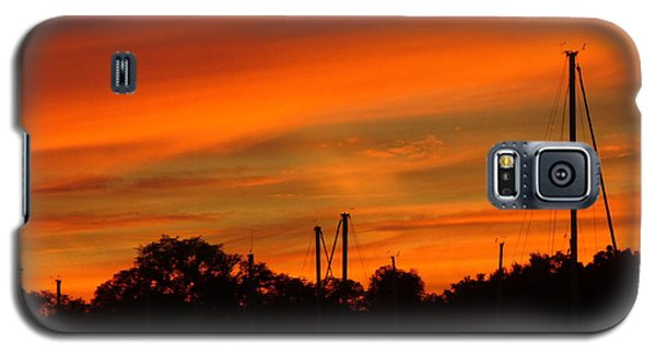 Galaxy S5 Case featuring the photograph Marina Sunset by Deena Stoddard