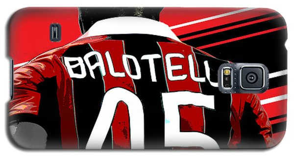 Decorative Galaxy S5 Case - Mario Balotelli Ac Milan Print by Pro Prints
