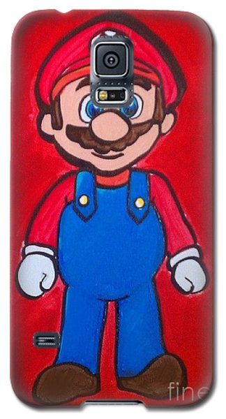 Galaxy S5 Case featuring the painting Mario by Marisela Mungia