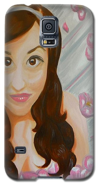 Galaxy S5 Case featuring the painting Marisela by Marisela Mungia
